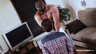 handcuffed cocksucker gets teased by no dick in his mouth