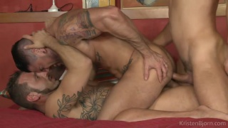 Antonio Miracle and Mario Domenech fuck James Castle