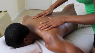 black dude's massage turns sexy