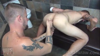 christian feeds vincent his big raw cock