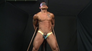 bound asian stud stripped and flogged