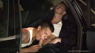 rich stud takes advantage of the car buffer