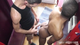 french-canadian top boning a black bottom's ass