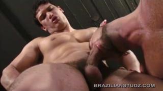 hard-bodied brazilian fucks guy in video lounge
