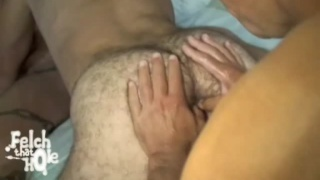 Hairy hole felching
