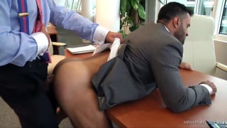 hunky spanish boss fucks employee on boardroom table