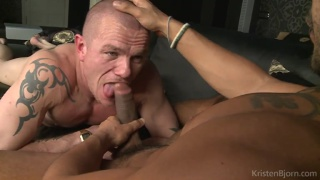 Albert Dutch sucks Lucio Saints' monster cock