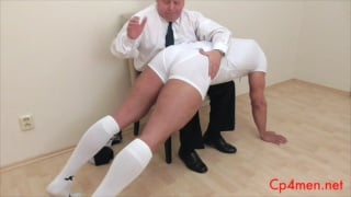 beefy guy gets his ass spanked
