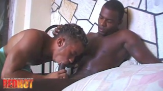 latin stud takes his black BF's huge cock