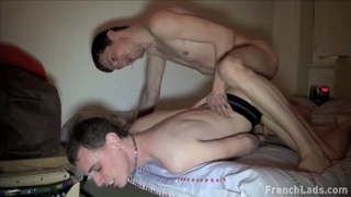 bottom guy Guillaume gets his hole plugged