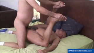 older man gets his first butt fucking