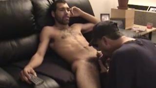 str8 boy's monster cock gets good servicing