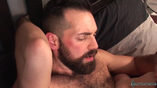 french lad rides bearded daddy's thick cock
