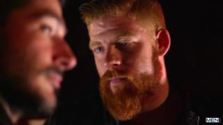 redhead bearded biker fucks his buddy's ass