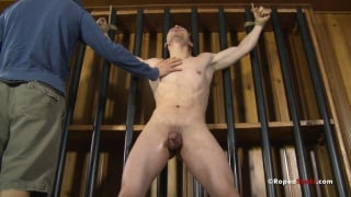 bound muscle boy gets whipped