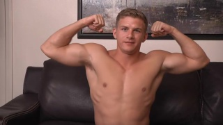 southern blond hunk jacks off