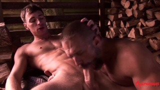 fucking in the woodshed - dirk caber and kayden gray
