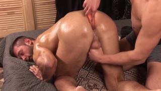 masseur has some bum fun with milan