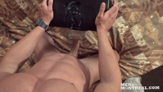 personal trainer getting off fucking sex toy