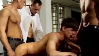two slaves forced to suck each other