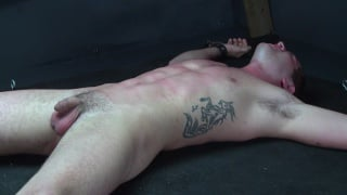 blond boy seth's tied down and  zapped
