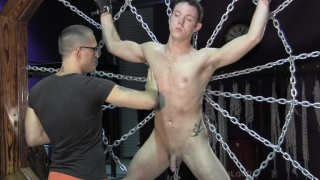 bondage cross and steep spider web