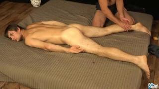 Viktor Burek drains his nuts on the massage mat