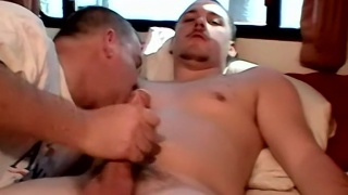 chaze gives his buddy blaze a handjob