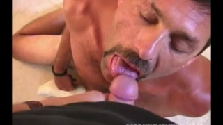 furry cocksucker with mustache sucking dick