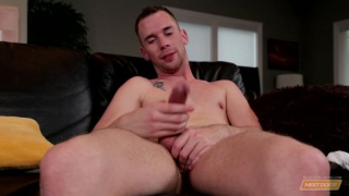 tripp townsend strokes his enormous dick