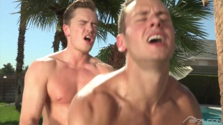 Lucas Knight fucks Brenner Bolton by the pool