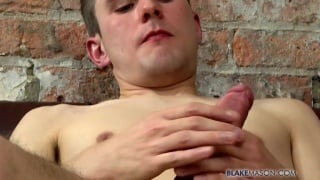 ryan gets to work stroking his tasty dick