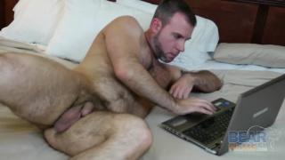 sexy cub does his first jack-off video