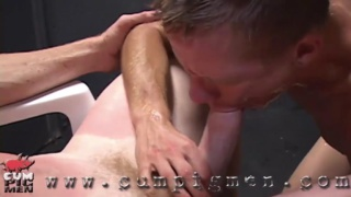 vince slips vennue thick cock in his mouth