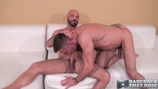 mature man sticks giant cock in hairy bottom