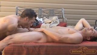 southern boys fuck on outdoor patio