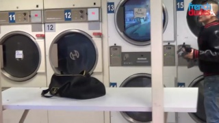 two french dudes hook up in the laundromat