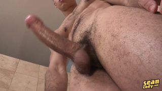 cailean strokes his long dick
