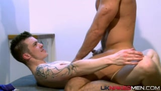 muscle stud rides a scottish dick