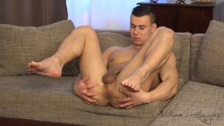 czech stud jacks his brown uncut cock