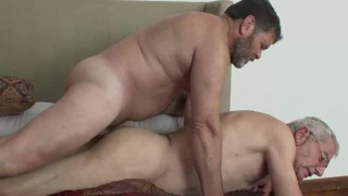 grandpa gets a hot daddy cock down his throat