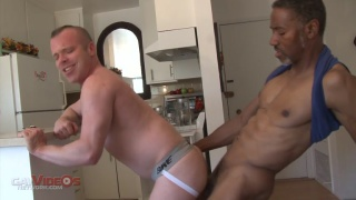 Jerry stearns gets his 11-inch black cock serviced