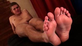 Jakub wiggles his toes