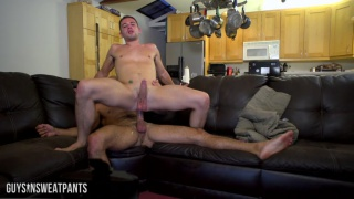 bottom bounces his cute butt on this big dick
