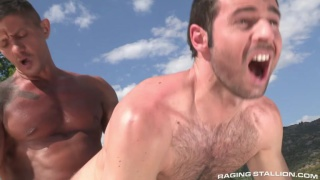 Goran fucks Dario Beck poolside in spain