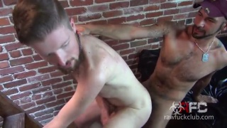duncan takes leo's huge raw cock up his ass