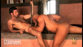 italian and spanish studs swap blowjobs