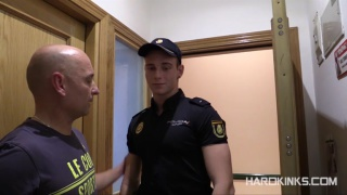 cop forced to swallow spit and more