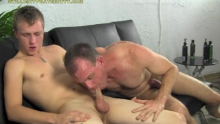 College straighty rides dick