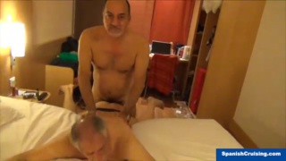 one spanish daddy fucks another